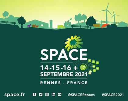 SPACE 2021 : rendez-vous Hall 5, Stand B32 les 14, 15 et 16 septembre 2021 et le 17 en ligne.